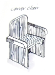 Wooden carver chair - rustic garden furniture