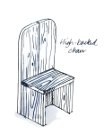 High backed recycled garden chair from eco garden furniture