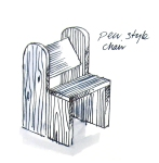 Eco friendly rustic garden furniture pew chair