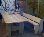 6ft x 3ft Table and 6ft Pew Bench