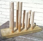 Wooden wellie holder
